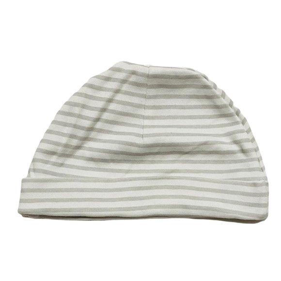 Light Grey Striped Infant Cap